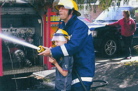 All of your guests can become a fireman for the day  - helmets provided